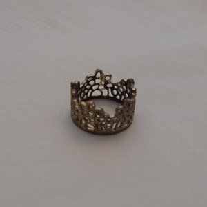 Aldo Gold/Bronze Crown Ring